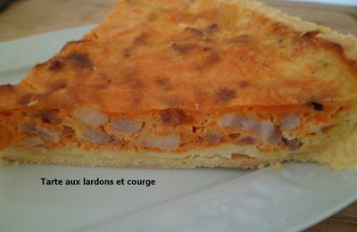 tarte orange (aux lardons et courge)