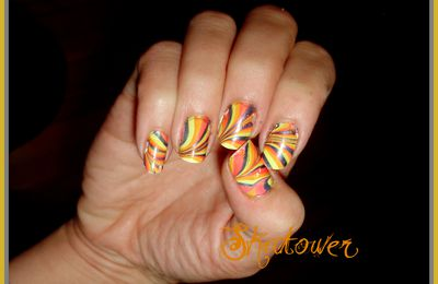 Water marble pour base