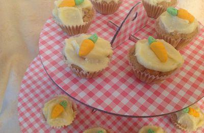 Mini cupcakes de zanahoria