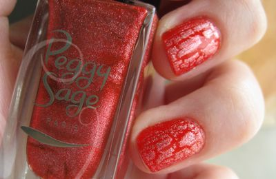 Peggy Sage Red Crackle