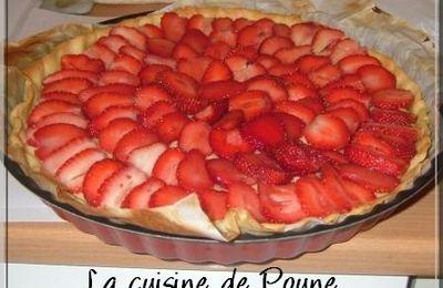 Tarte aux fraises sur crème pâtissière
