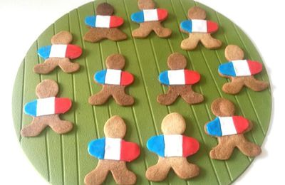 "Sablés ""Equipe de France"" pour supporters gourmands"