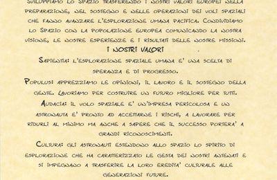 Charta del Corpo Astronauti Europeo