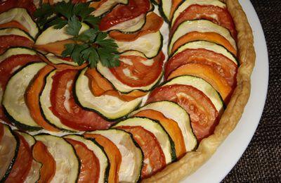 Tarte aux légumes et au Boursin.
