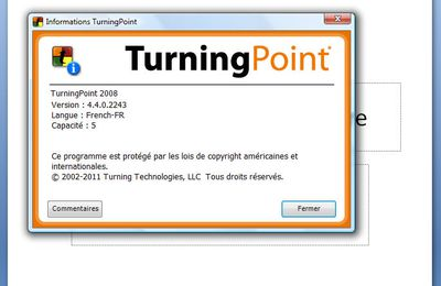 TURNINGPOINT version 4.4.0 en Français Septembre 2012