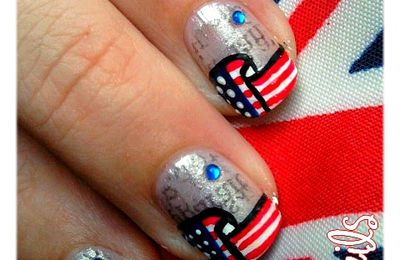 Nail-Art : Newspaper From USA