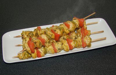 Brochette au poulet Tikka