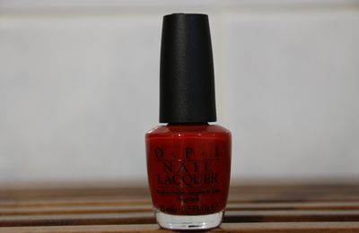 Vernis Big Apple Red par O.P.I