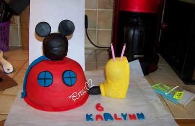 Gateau la maison de Mickey