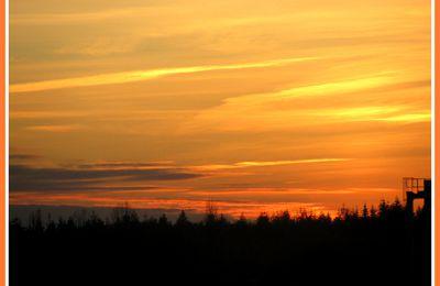 Couché de soleil entre Berry et Touraine.Chatillon sur Indre.
