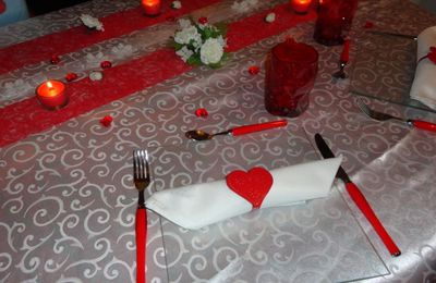 Ma table de St Valentin !