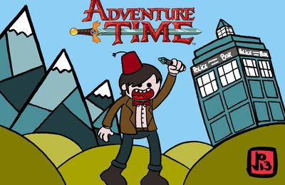 Fan-art Adventure Time-lord : mix Dr Who/Adventure time