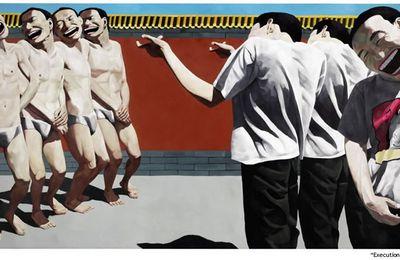 Yue Minjun, Exécution, 1995.
