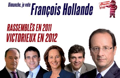 Réactions primaire (6) : L'affiche (non) officielle de François Hollande, by Primy