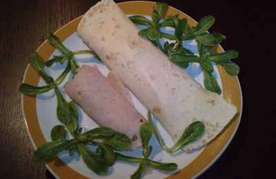 wrap light au thon/macedoine et son double au blanc de dinde