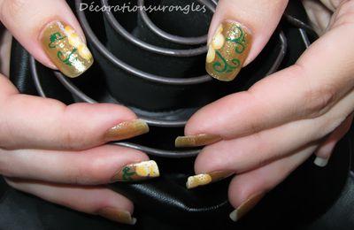 Nail art one stroke fleur