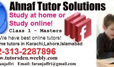 academy of home teacher in Lahore, Tutor Academy in Lahore