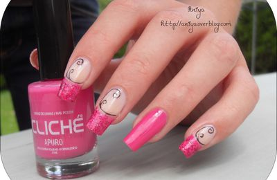 Nail art : French girly