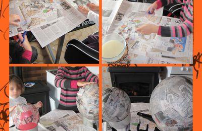 Lanternes d'Halloween en papier maché