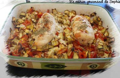 Poulet eux légumes méditerranéens