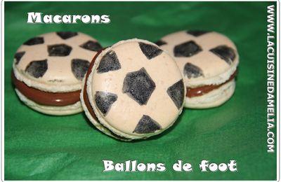 Macarons ballons de foot