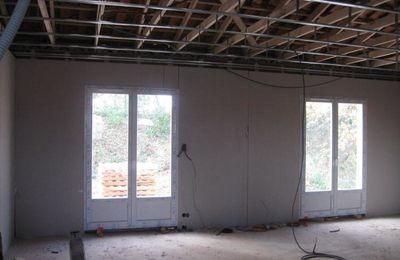 Pose plafond + gaines électriques