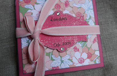 Mini album Londres avec Stampin'Up!®