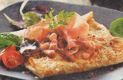 Crêpe salée au jambon cru et emmenthal
