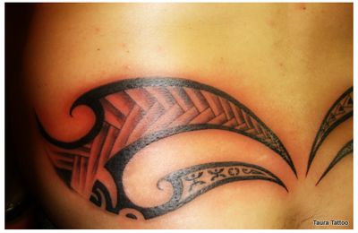 Tribal tattoo polynésien