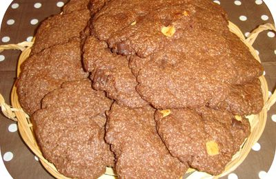 Cookies tout choco aux chunks 3 chocolats