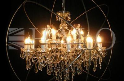 Large chandelier gyro chrystal