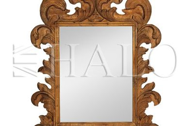 Old grand library florentine mirror