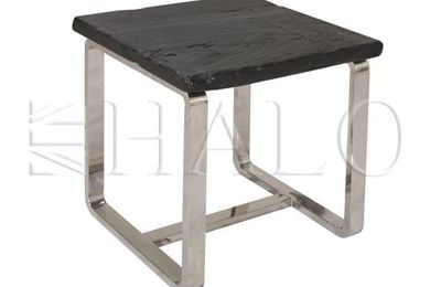 Raw nero lamp table