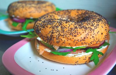 Bagel saumon - avocat
