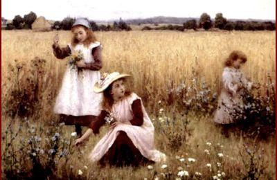 """""""Enfants et fleurs """" - par les grands peintres (3)"""