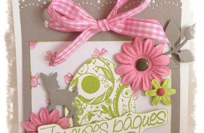 Pochette Joyeuses Pâques porte-chocolats ou bijoux N°50