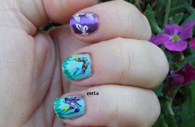 stamping de papillons!