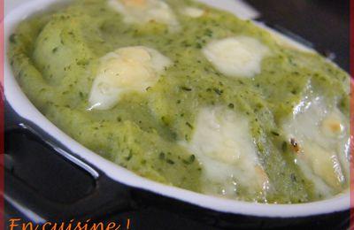 Purée de brocolis à la tomme de savoie