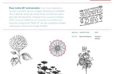 Tampons Best of 25 ans de Stampin Up