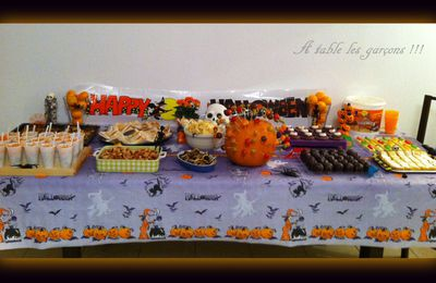 Sweet and salty table d'Halloween !!!