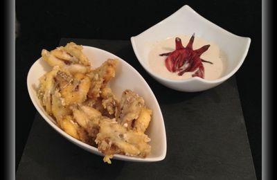Sauce à la fleur d'hibiscus et cuisses de grenouilles !