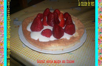 gateau( savoie maigre aux fraises)