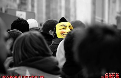 Anonymous manif anti-ACTA, Montpellier le 11/02/2012