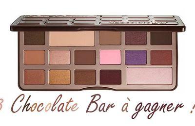 [Concours] 3 palettes Chocolate Bar à remporter !