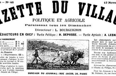 MR JEANMAIRE, CORRESPONDANT DE PRESSE - 1892