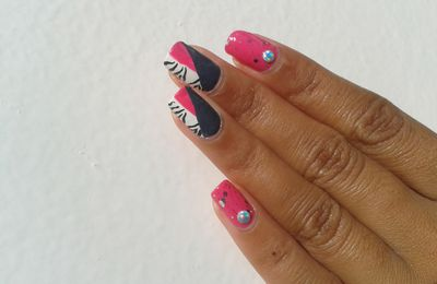 [NA] Mon premier Twin Nail : un zebra girly