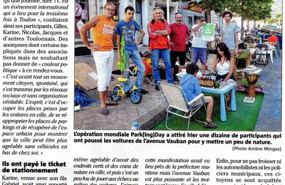Le Park(ing)Day 2013... on y était !