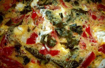 omelette salée feuilledevigne/tomate/P'titLou express