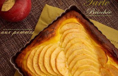 Tarte briochee aux pommes et creme patissiere