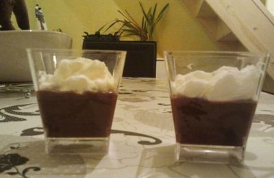 verrine choco nutella et chantilly